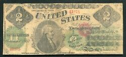 1862 2 Two Dollars Legal Tender United States Note Andldquocontemporary Fauxandrdquo B