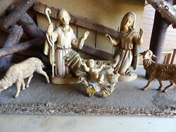 Fontanini Nativity Set Italy Depose Creche Stable Vintage And 6 Figurines
