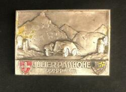 Swiss Julier Passhohe Automobile Ralley Rally Dashboard Plaque Emblem Plate