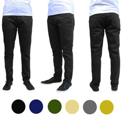 Menand039s Galaxy By Harvic Slim Fit Cotton Stretch Chino Pants