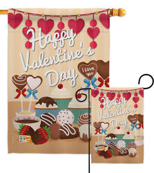 Sweet Valentines Day Garden Flag Spring Small Decorative Gift Yard House Banner