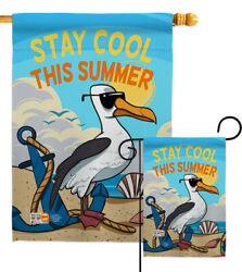 Stay Cool This Summer Garden Flag Fun In The Sun Decorative Yard House Banner
