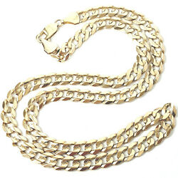 Men's Solid Gold Curb Chain 9ct Yellow Gold Hallmarked 43.2g 7.5mm 22 Inches