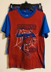 Spiderman Boys Short Sleeve Shorts PJ Set Size L