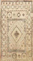 Antique Muted Vegetable Dye Authentic Moroccan Handmade Oriental Area Rug 7x11