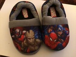 Marvel Spiderman Boys Slippers Size 7 8