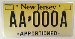 Nj Jersey Apportioned Truck License Plate Trucking Mobile Home Trailer Tractor