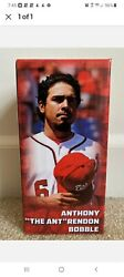 """Anthony """"the Ant"""" Rendon Bobblehead Potomac Nationals Sga 2016 Tony Two Bags"""