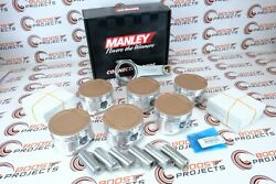 Cp 100.5mm 9.0 Cr Ceramic Coating Piston And Manley H-beam Rods For Toyota 1fz-fe