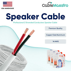 14awg Speaker Cable In Wall Wire Audio Cl2 14/2 Gauge 100-500ft 2 Conductor Bulk