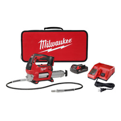 18volt Lithiumion Cordless Grease Gun 2speed 1.5ah Batteries Lock On/off Trigger