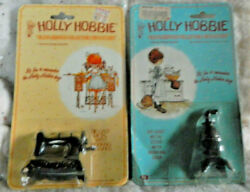Nos Holly Hobbie Diecast Miniature Doll House Stove And Sewing Machine Pkg Wear
