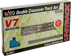 Kato 20-866-1 New 2021 Usa N Scale V7 Double Crossover Track Set