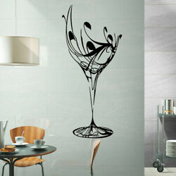 FE IC AU BE AU Wine Cup Removable Self adhesive Wall Sticker Kitchen Dining