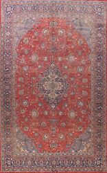Floral Semi Antique Traditional Hand-knotted Area Rug Wool Oriental Carpet 10x13