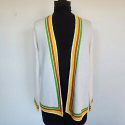 Vintage 70s St John Knits Open Front Cardigan Sweater M