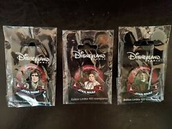 Set Of 3 Star Wars Pin Trading Night Event Pins Paris, Le 400