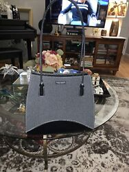 Grey and Black Kate Spade New York Bucket Purse Handbag Felted Wool Classic $59.00