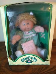 Vintage Cabbage Patch Kid Triang-pedigree Made In South Africa Blonde Green Eyes
