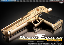 Academy Desert Eagle 50 Gold Special Spring Powered Airsoft Bb Blaster 6mm
