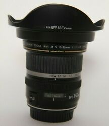 Canon Ef-s 10-22mm Lens With Hood