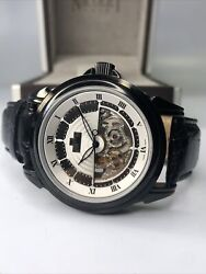Nicolet 1886 Men's Stainless Steel Skeleton Automatic Watch Limited Edition