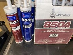Sherwin Williams White Caulk Lot Of 16 Tubes 850a And 950a For Trim Windows Doors