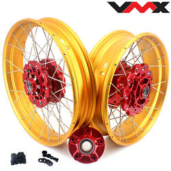 Vmx 3.019/4.2517'' Tubeless Wheels Rims Set For Africa Twin Crf1000l 2016 Red