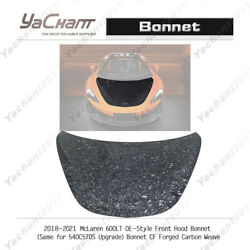 Forged Carbon Kit Fit For 18-21 Mclaren 600lt Oe-style Front Hood Bonnet Cover