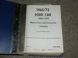 1967 Ford Mustang Parts Catalog Manual Shelby Gt350 Gt500 Convertible Fastback