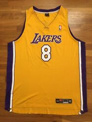 Authentic Nike 2003 Los Angeles Lakers Kobe Bryant Home Yellow Jersey 56 3xl 3x