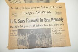Bobby Kennedy Martin Luther King Jr King Suspect Seized 1968 Chicago Newspaper