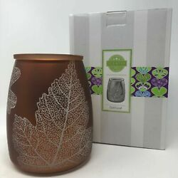 SCENTSY Full Size Wax Warmer GOLD LEAF Metallic Autumn Fall Lacy Leaves