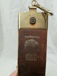 Vintage 996a Russian Leather Shell Barber Razor Strop Certifyd 24