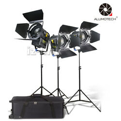 50wx2+100w Fresnel Led Studio Spot Lighting+standx3 For Photography Support Kit