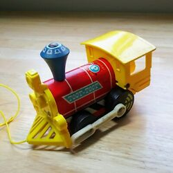 Vintage, Early 1970s Fisher Price Toot-toot Train Engine Pull Toy 643, Usa Made