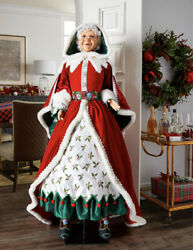 Katherine's Collection Snow Day Mrs Claus Doll Lifesize 28-028714 New