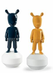 Set 2 Guest The Orange Guest And The Dark Blue Guest Small New Models Lladro