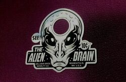 Custom Vintage Style The Alien Brain Door Peep Hole Cover Plate Outer Space