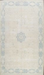 Muted Semi Antique Traditional Floral Area Rug Distressed Handmade Wool 10x13
