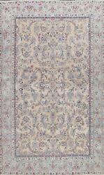 Traditional All-over Semi Antique Floral Area Rug Wool Handmade Oriental 8x11