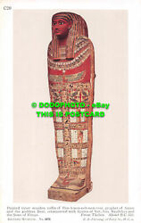 R486649 British Museum. Painted Inner Wooden Coffin Of Pen A Men Neb Nest Taui.