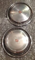 1974 75 76 77 78 Cadillac Eldorado Wheelcover Hubcaps Stainless Steel Set Of 2andnbsp