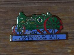 Rare 1918 Rumley Oil Pull Tractor Lions Enamel Pin Clearbrook Fraser Vallley Bc