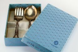 Weidlich Ancestry Sterling Silver Baby Fork And Spoon Set In Original Box