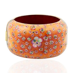 18k Gold 788.12ct Natural Amethyst Bangle 925 Silver Bakelite Jewelry For Gift