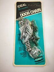 Vintage New Storm Screen Door Chains Sk14 Ideal Security Hardware Made In Usa