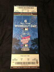 Aaron Judge Autographed 2017 Mlb All Star Game Home Run Derby Ticket Canvas