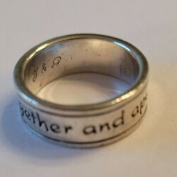 James Avery God Be With Us Together And Apart Ring Size 8 Sterling