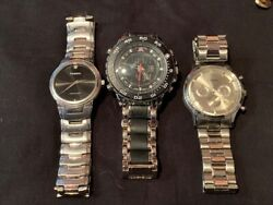 3 Watches Fossil and Accutime U.S.POLO Assn Watch FREE SHIPPING USED $29.99